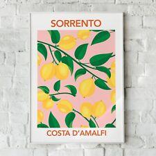 Sorrento Print, Lemon Print, Fruit Wandkunst, Heim Dekor