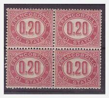 SERVIZIO 1875 -  20 Cent Quartina  Nuova ** LUSSO