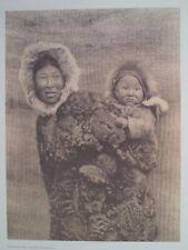 Nunivak Woman and Child Pacific Northwest 1972 Original Folio Edward S. Curtis
