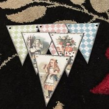 Alice In Wonderland Paper Bunting  Party Decoration