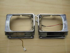 TOYOTA HILUX PICKUP 1982-83 RN45 CHROME HEADLIGHT DOOR HEADLAMP BEZEL LIGHT CASE