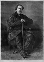 GIOACCHINO ROSSINI, THE GREAT ITALIAN COMPOSER, 1867 ANTIQUE WOOD-CUT ENGRAVING