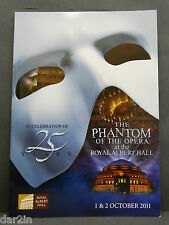 NEW PHANTOM OF THE OPERA PROGRAMME 25TH ANNIVERSARY COLLECTORS SOUVENIR BROCHURE