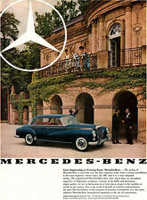 Blue Mercedes-Benz 300 THE MOST EXPENSIVE Engineering in Evening Dress 1960 Ad