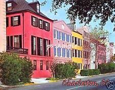 South Carolina - CHARLESTON  - RAINBOW ROW -  Souvenir Flexible Fridge Magnet