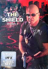 THE SHIELD - SEASON 3 - MICHAEL CHIKLIS - (4) DVD SET - STILL SEALED