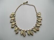 Vintage Coro necklace - Gold tone - Moonglow lucite