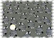 Zebra elástico de jersey gris algodón camisa de tela 50 cm