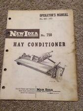 New Idea No. 750 Hay Conditioner Operators Manual C
