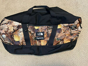 SUPREME THE NORTH FACE APEX DUFFLE BAG LEAVES TNF BOX LOGO 100% AUTHENTIC