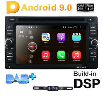 Double 2Din Android 9.0 Car Stereo GPS DVD Player DAB+OBD2 Head Unit Free Camera