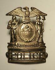 Vintage Police Excelsior Hat Cap Badge