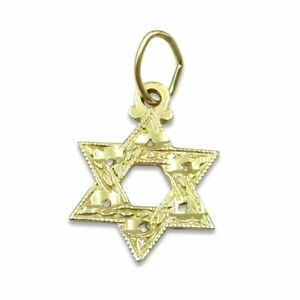 Pre-owned Gold Star of David Pendant in 14ct