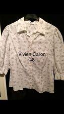 Bluse Hemd Von Vivien Caron 48 (XXL) Weiss