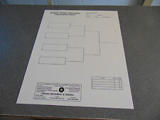 TWO 8 Player Single Elimination Non-Laminate Pool Tournament Chart Poster