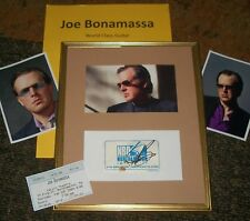 JOE BONAMASSA Autographed ticket & Photo Framed & Photos- REAL Collectible