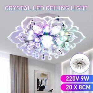 LED Deckenlampe Kristall Deckenleuchte Bunt Lampe Kronleuchter Wohnzimmer Lampe
