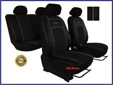 Universal Black Eco-Leather Full Set Car Seat Covers fit Nissan Micra