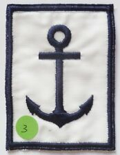 Insigne tissu ANCRE MARINE NATIONALE UNIFORME CHEMISETTE COLONIALE 73x96 mm