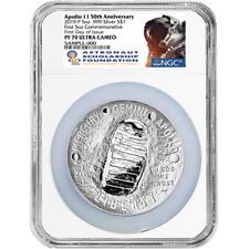 2019-P Proof $1 Apollo 11 50th Ann 5oz. Silver Dollar NGC PF70UC FDOI ASF Label