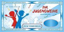 XXL Geldgeschenk Umschlag Karte Zum Verjubeln Dollar Jugendweihe 121226413