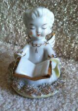 Vintage Blume Japan Angel Figurine Holding Songbook Spaghetti Trim Free Ship