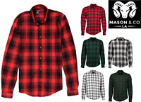 Men's Casual Plaid Flannel Long Sleeve Button Down Shirt Buffalo Plaid (S-2XL)