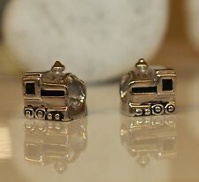 Ferrovia treno Lock FERROVIA RAILWAY TRAIN 925 Sterling Argento BEAD Beads Charms
