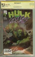 Hulk Smash #1 CBCS (not CGC) 9.2 Signed Garth Ennis
