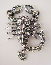 "Scorpio ""October 23 - November 21"" Silver Pendant"