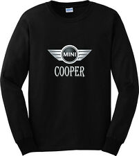 Mini Cooper Car Black T-Shirt Long Sleeve Men or Women Apparel