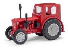 Busch 210006403 - 1/87 / H0 Traktor Pionier - Rot / Graue Felgen - Neu
