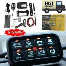 8 Gang Switch Panel Relay On-Off Control LED Light Bar Car Boat Marine Off Road