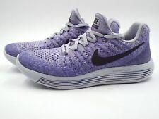 Women's Nike Lunarepic Low Flyknit 2 Size 7 (863780 007) Grey/Black/Purple