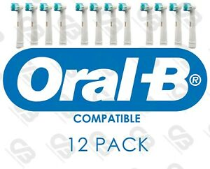 ORAL B Compatible Electric Toothbrush Heads Replacement Head 12 PACK