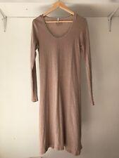 Surtapeau Womens 100% Cotton Nude Long Sleeves Sheath Dress, AU Size 12