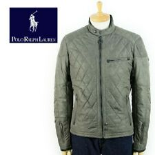 POLO RALPH LAUREN QUILTED MOTO CAFE  RACER JACKET / SPEED GREY / RETAIL $595