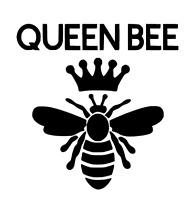 Queen Bee Decal Sticker Vinyl Yeti Car Decal Laptop Window