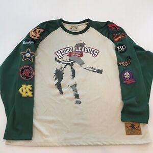 XXXL Negro Leagues All Stars Baseball Jersey Long Shirt Vintage Sewn Patches 3XL