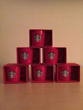 ORIGINAL STARBUCKS 2015 Red Holiday 3oz Demitasse Espresso Cups NEW