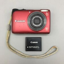 Canon Powershot A2200 Hd 14.1Mp Digital Point & Shoot Camera Red Complete A12
