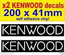 2x kenwood car audio rally race sports car decals van mini bus truck stickers