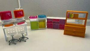 Vintage BARBIE Doll Office Furniture Mixed Lot
