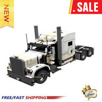 MOC-6138 Peterbilt 389 with Ultra Sleeper Technic Engineering Dump Truck Blocks