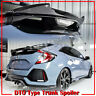 DTO Glossy Black Trunk Spoiler Wing for Honda Civic X 10th 5D Hatchback Painted