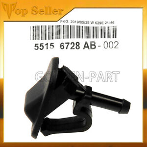 Windshield Washer Nozzle Wiper Spray 55156728AB Fit for 1997-2013 Jeep Wrangler