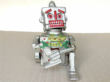 SILVER ROBOT MONEY BOX BANK Hubley Robert The Robot 1950 Movable Bank CAST IRON