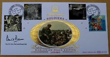 SOLDIERS' TALE 1999 BENHAM FDC WHITEHALL H/S SIGNED BY POLITICIAN DAVID OWEN