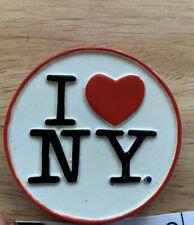 I Love �� Ny New York Iconic Heart Round Ceramic Magnet