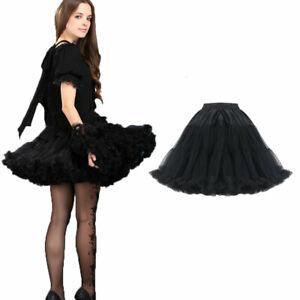 Kurzer Gothic Lolita Burlesque Petticoatrock Black Victorian Skirt